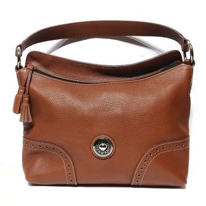 Dooney and Bourke Cognac Brown Leather Bag Tote